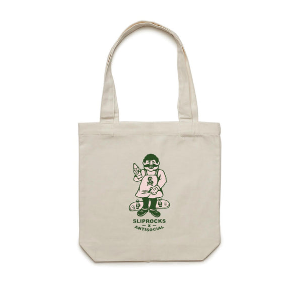 ANTISOCIAL X SLIPROCKS - INN KEEPER TOTE - CREAM - Antisocial Collective