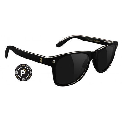 GLASSY SUNNIES - LEONARD POLARIZED - BLACK
