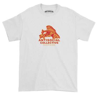 ANTISOCIAL - WORKING CLASS FINE FABRICS S/S TEE - WHITE - Antisocial Collective