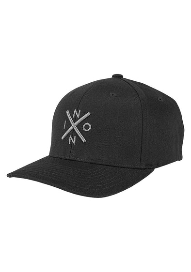 NIXON - EXCHANGE FLEXFIT HAT - BLACK/CHARCOAL
