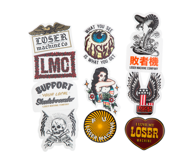 LOSER MACHINE - LOSER MC STICKERS VI - ASSORTED