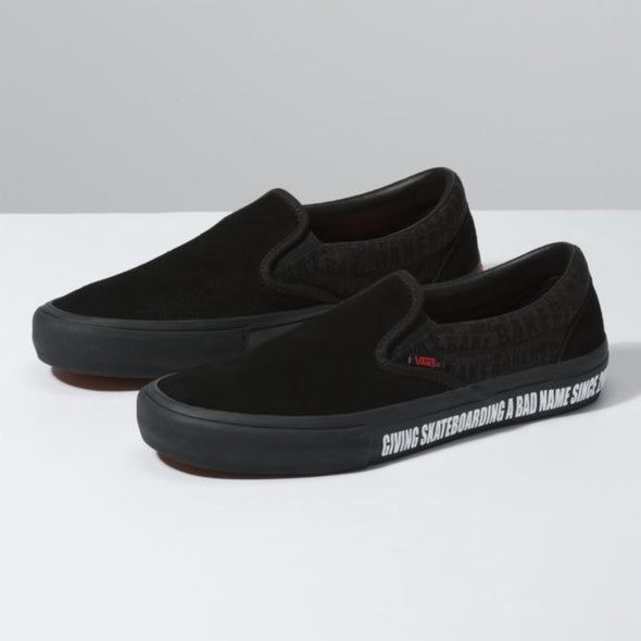 VANS X BAKER - SLIP-ON PRO - BLACK/RED - Antisocial Collective