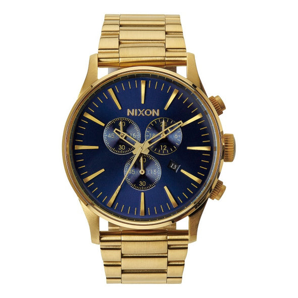 NIXON - SENTRY CHRONO 42MM - GOLD / BLUE SUNRAY - Antisocial Collective