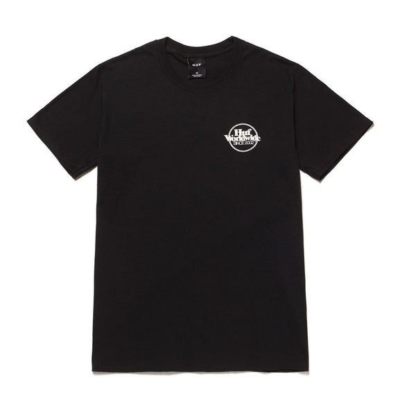 HUF - ISSUES LOGO PUFF TEE - BLACK