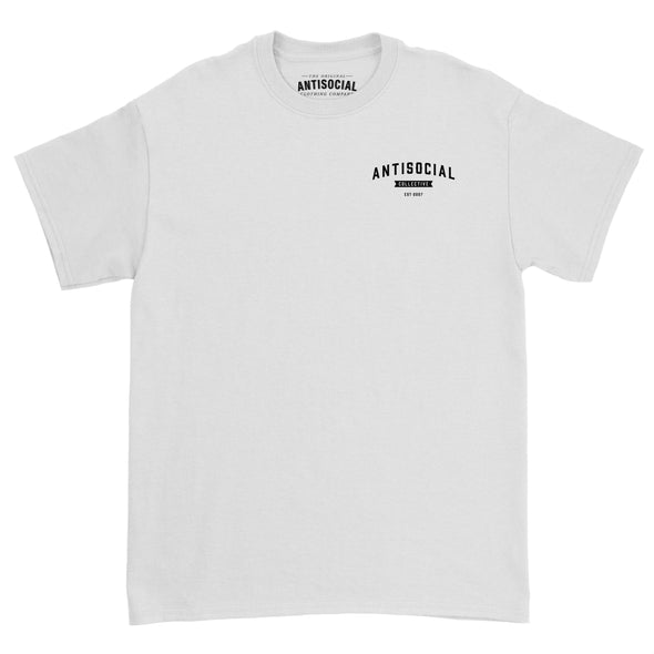 ANTISOCIAL - SHOP LOGO S/S TEE - WHITE