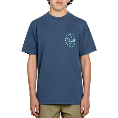 VOLCOM - LODOWN S/S TEE LITTLE YOUTH - BLUE - Antisocial Collective