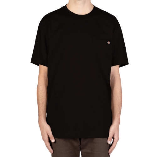 DICKIES - HEAVYWEIGHT CREW TEE - BLACK - Antisocial Collective