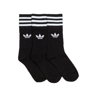 ADIDAS - CREW SOCKS 3 PAIRS - BLACK/WHITE - Antisocial Collective
