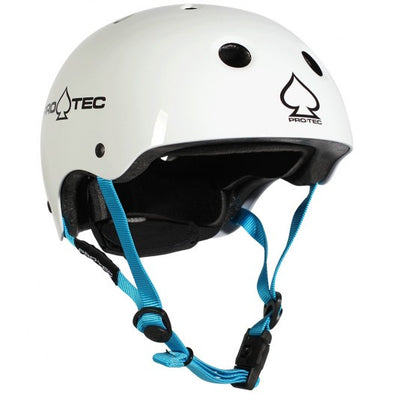 PRO-TEC - JR CLASSIC FIT CERTIFIED HELMET - GLOSS WHITE