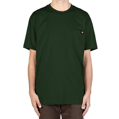 DICKIES - HEAVYWEIGHT CREW TEE - HUNTER GREEN - Antisocial Collective