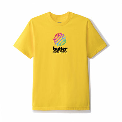 BUTTER GOODS - TELECOM TEE - YELLOW
