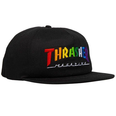 THRASHER - RAINBOW MAG SNAPBACK - BLACK