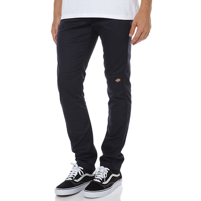 DICKIES - 811 SKINNY STRAIGHT DOUBLE KNEE WORK PANT - BLACK - Antisocial Collective