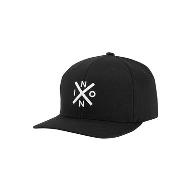 NIXON - EXCHANGE FLEXFIT HAT - BLACK/WHITE