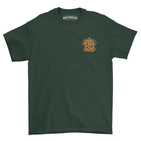ANTISOCIAL - LOCALS S/S TEE - FOREST GREEN - Antisocial Collective