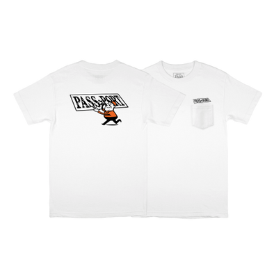 "PASS~PORT ""MIRROR MAN"" TEE - WHITE"