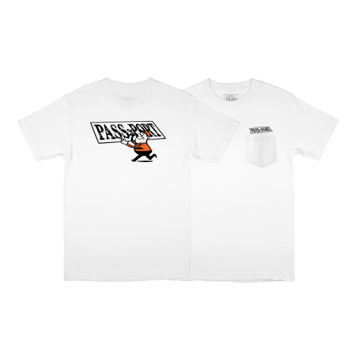 "PASS~PORT ""MIRROR MAN"" TEE - WHITE - Antisocial Collective"