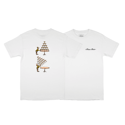 "PASS~PORT ""CHAMPERS"" TEE - WHITE - Antisocial Collective"
