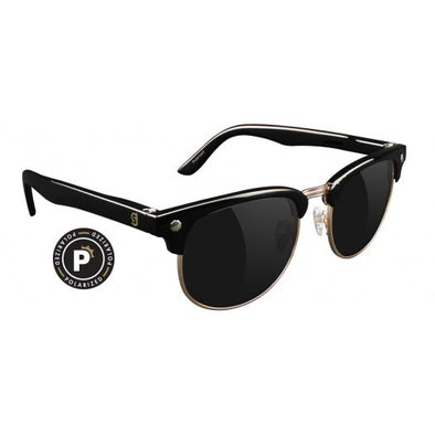 GLASSY SUNNIES - MORRISON POLARIZED - BLACK/GOLD
