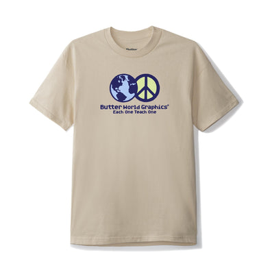 BUTTER GOODS - WORLD PEACE TEE - SAND