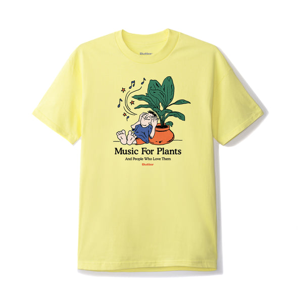 BUTTER GOODS - MUSIC FOR PLANTS TEE - BANANA