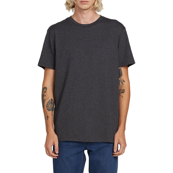 VOLCOM - SOLID S/S TEE - CHARCOAL HEATHER