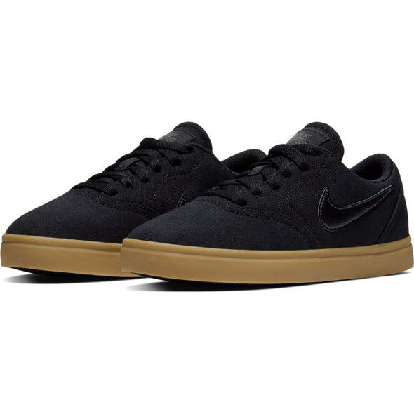 NIKE SB - CHECK CANVAS (GS) - BLACK/BLACK-GUM LIGHT BROWN - Antisocial Collective