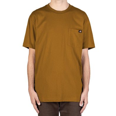 DICKIES - HEAVYWEIGHT CREW TEE - DUCK BROWN - Antisocial Collective