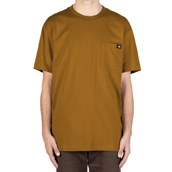 DICKIES - HEAVYWEIGHT CREW TEE - DUCK BROWN