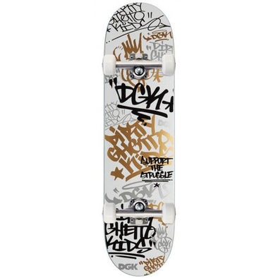 DGK - TAG WHITE/GOLD COMPLETE SKATEBOARD - 8.0