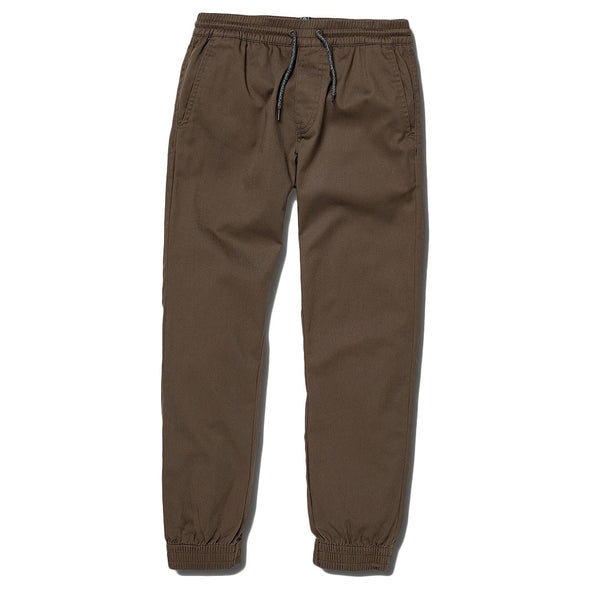 VOLCOM - FRICKIN MODERN TAPERED JOGGER PANT YOUTH - MUSHROOM - Antisocial Collective