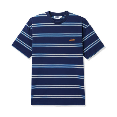 BUTTER GOODS - MARKET STRIPE TEE - NAVY / WHITE / TEAL