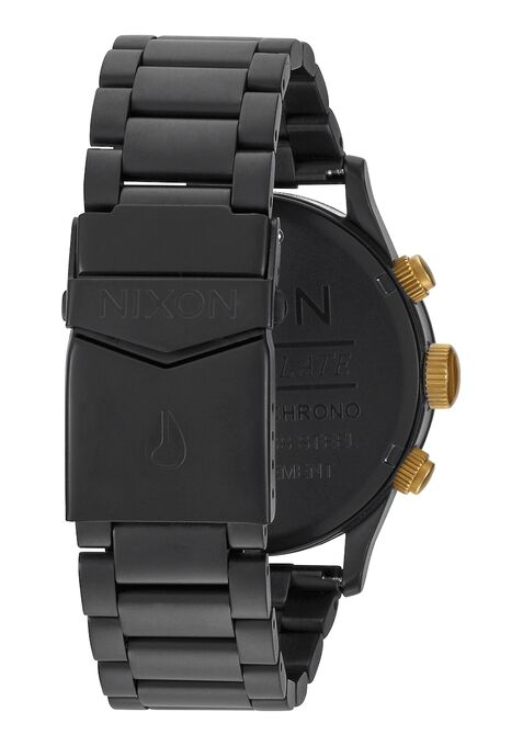 NIXON - SENTRY CHRONO 42MM - MATTE BLACK / GOLD - Antisocial Collective