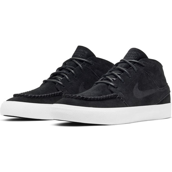 NIKE SB - ZOOM STEFAN JANOSKI MID CRAFTED - BLACK/BLACK-PALE IVORY - Antisocial Collective