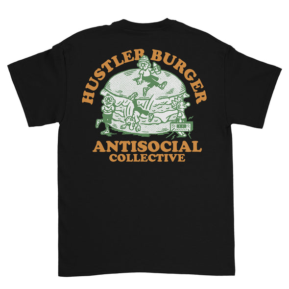 ANTISOCIAL X HUSTLER - ODD COMMUNITY S/S TEE - BLACK - Antisocial Collective