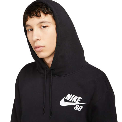 NIKE SB - SB ICON PO ESSENTIAL HOODIE - BLACK/WHITE