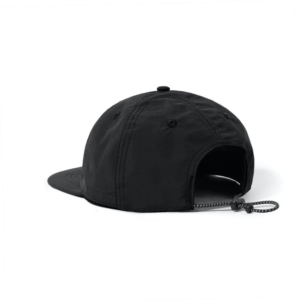 CASH ONLY - LOGO 6 PANEL CAP - BLACK