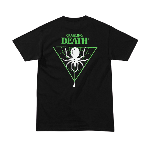 CRAWLING DEATH - TRIANGLE SPIDER GREEN - BLACK