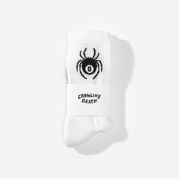 CRAWLING DEATH - SPIDER SOCKS - WHITE