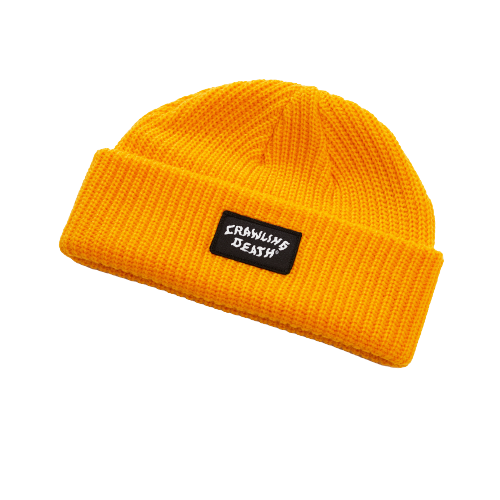 CRAWLING DEATH - MINI PATCH BEANIE - GOLD