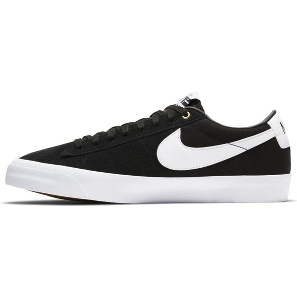 NIKE SB - ZOOM BLAZER LOW  PRO GT - BLACK/WHITE-BLACK-GUM LIGHT BROWN