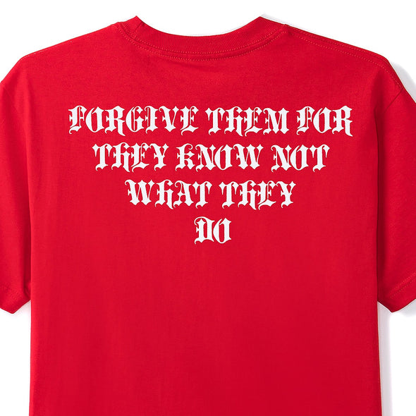 BUTTER GOODS - FORGIVE TEE - RED - Antisocial Collective