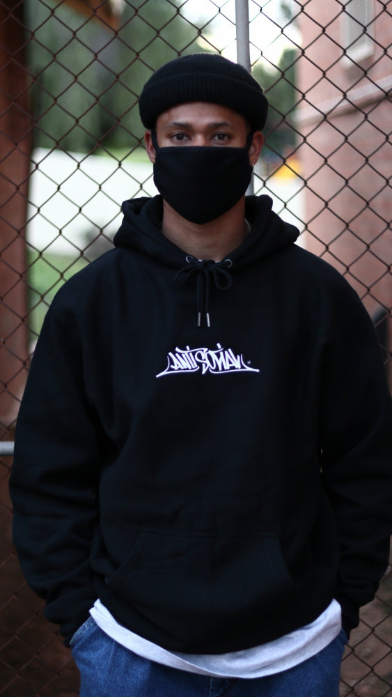 ANTISOCIAL - STAGE ONE EMBROIDERED LOGO PREMIUM HOOD - BLACK