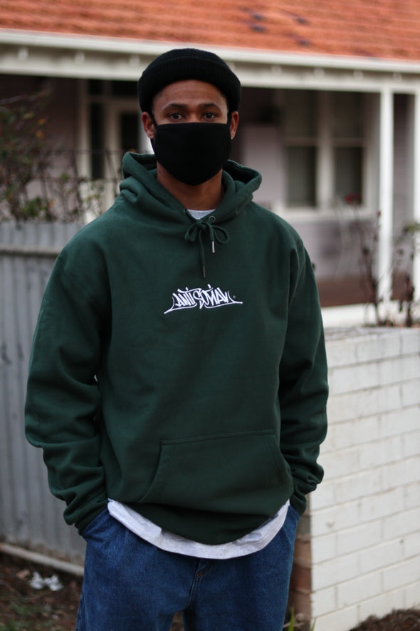 ANTISOCIAL - STAGE ONE EMBROIDERED LOGO PREMIUM HOOD - ALPINE GREEN