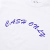 CASH ONLY - LOGO TEE - WHITE - Antisocial Collective