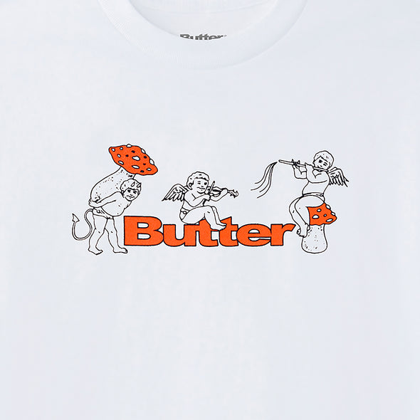 BUTTER GOODS - MUSHROOMS TEE - WHITE - Antisocial Collective