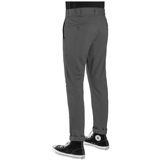 DICKIES - 811 SKINNY STRAIGHT DOUBLE KNEE WORK PANT - CHARCOAL - Antisocial Collective