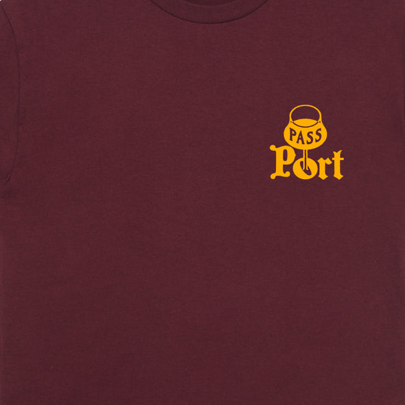 PASS~PORT - PORT TEE - BURGUNDY