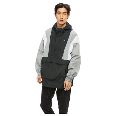 CHAMPION - NYLON ANORAK JACKET - BLACK