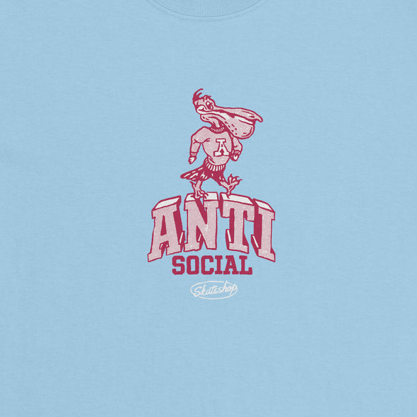 ANTISOCIAL - MASCOT S/S TEE - POWDER BLUE